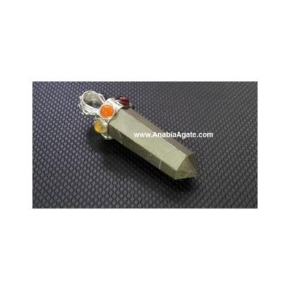Pyrite Chakra Pencil Pendant
