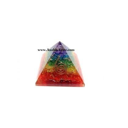 7 Chakra Dyed Layer Pyramid