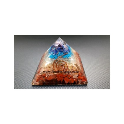 7 Chakra Layer Orgone Pyramid
