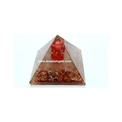 Orange Aventurine Orgone Ganesha Pyramid