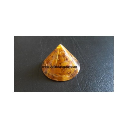 Camel Agate Orgone Conical Pyramid