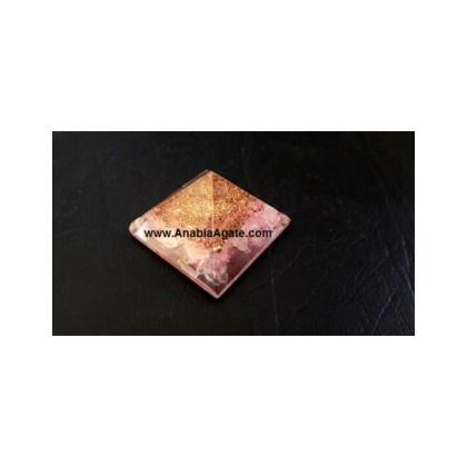 Rose Quartz Orgone Baby Pyramid Bulk