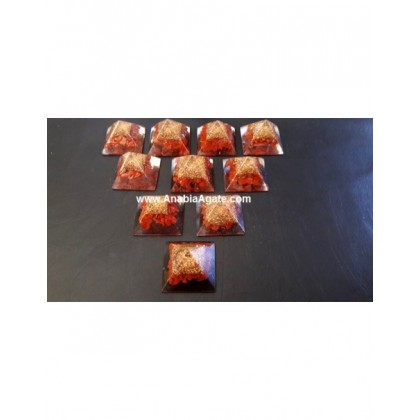 Red Jasper Orgone Baby Pyramid Bulk