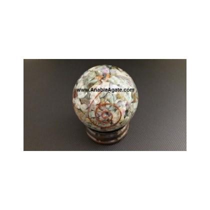 Ruby Fuchsite Orgone Ball (60mm-65mm)