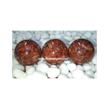 Red Aventurine Orgone Balls - 50mm