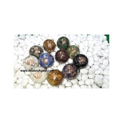 Mix Gemstone Orgone Balls - 40mm