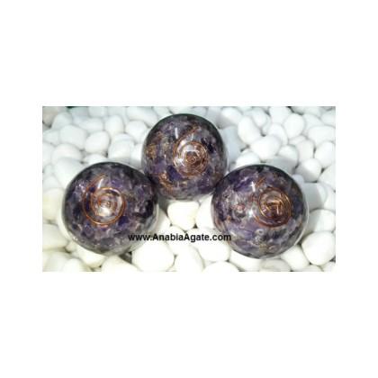 Amethyst Orgone Balls - 50mm