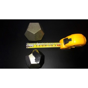 GOLDEN PYRITE DODECAHEDRON SHAPE
