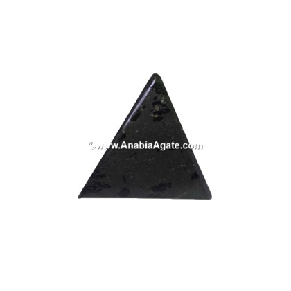 BLACK TOURMALINE TETRAHEDRON SHAPE