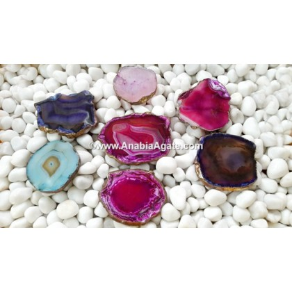 MIX AGATE PLATED COASTERS