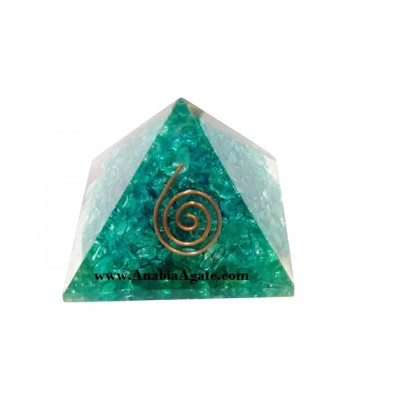 Blue Color Dyed Orgone Pyramid