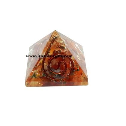 Orange Aventurine Orgone Baby Pyramid