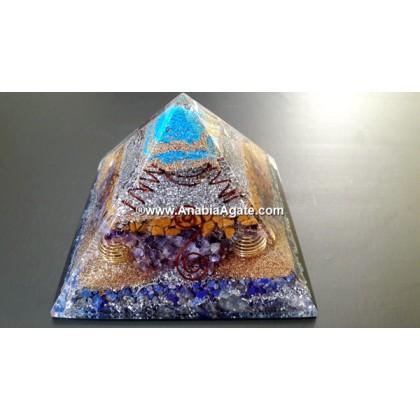 Mix Gemstone Orgone Big Pyramid New Design