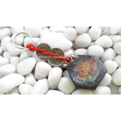 Tree Of Life In Wooden Orgone Key Chain Design-A