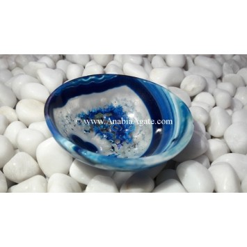 BLUE CHALCEDONY 3 INCH BOWLS