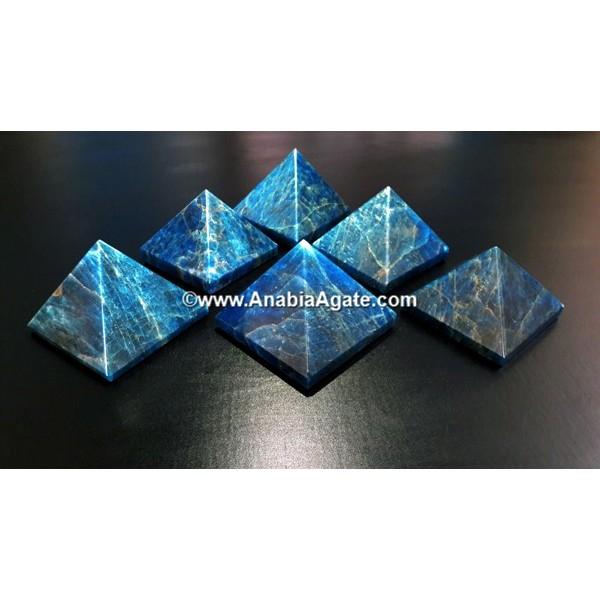 BLUE APATITE GEMSTONE PYRAMID
