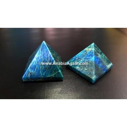 BLUE APATITE GEMSTONE SMALL PYRAMID