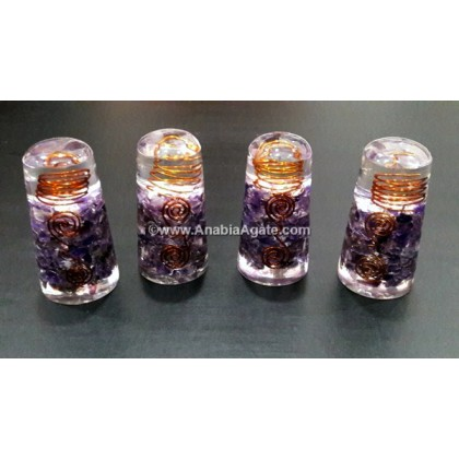 AMETHYST ORGONE SMOOTH MASSAGE WAND WITH COPPER WIRE