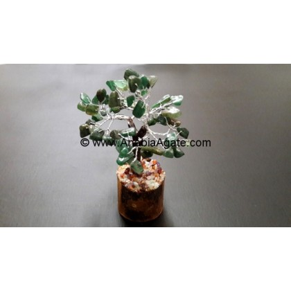 Green Mica Agate Small Gemstone 30 BDS Tree