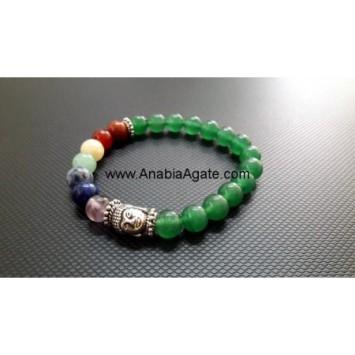 7 CHAKRA GREEN AVENTURINE BUDDHA BRACELET