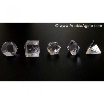 CRYSTAL QUARTZ 5PCS GEOMETRY SET