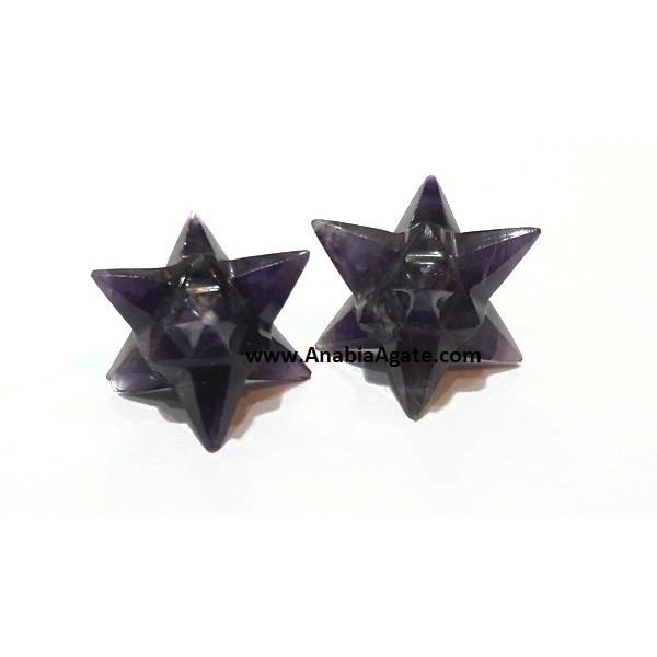AMETHYST 14 POINT STARS