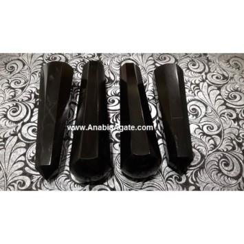 BLACK AGATE 8 FACET MASSAGE WANDS