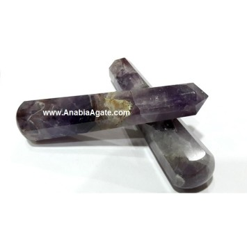AMETHYST 8 FACET MASSAGE WANDS