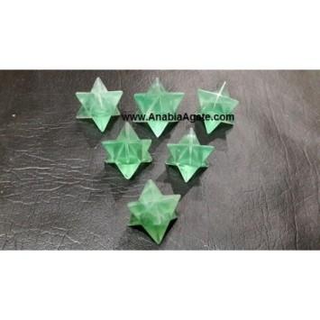 GREEN FLOURITE MERKABA STARS
