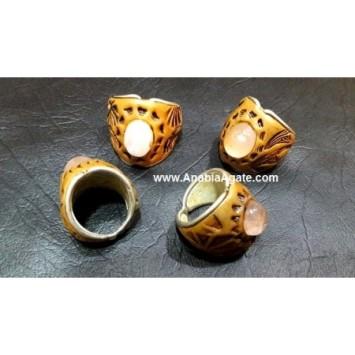 TIBETAN MIX GEMSTONE FINGER RINGS