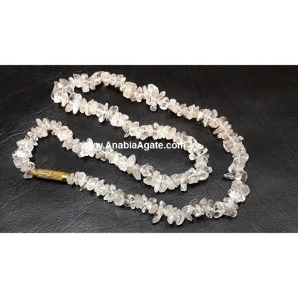 CRYSTAL QUARTZ CHIPS NECKLACE