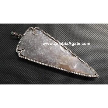 Diamond Plated Arrowhead Pendant