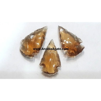 BROWN COLOR GLASS ARROWHEADS (1INCH)