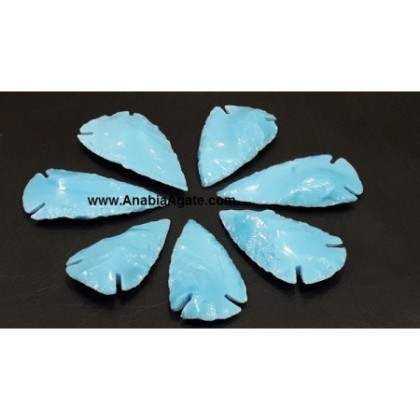 1 INCH GEMSTONE TURQUOISE AGATE ARROWHEADS