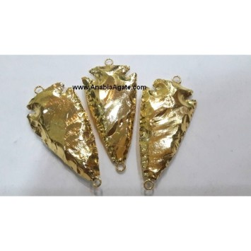 FULLY GOLD PLATED ARROWHEAD CONNECTOR - 2INCH