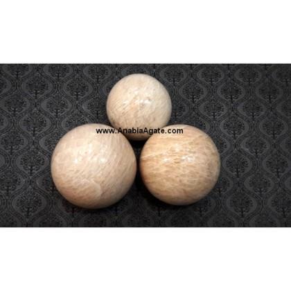 CREAM MOONSTONE BALLS